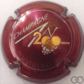 Champagne capsule 615 An 2000, n°615, bordeaux, lettres or