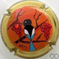 Champagne capsule 80 PALM par Nats, avec strass rouge