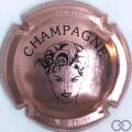 Champagne capsule 7.fa Rosé et noir