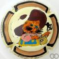 Champagne capsule 23 Cuvée de chat botté peinte à la main