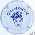 Champagne capsule 7.e Blanc et bleu foncé