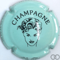 Champagne capsule 7.k Turquoise et noir