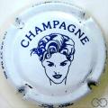 Champagne capsule 7.a Blanc et bleu