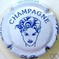 Champagne capsule 7.d Blanc et bleu, lettres fines