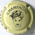 Champagne capsule 7.j Crème et noir
