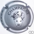 Champagne capsule 7.i Argent et noir