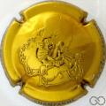 Champagne capsule 44 Estampée, or-jaune