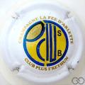 Champagne capsule 8 Blanc, bleu et jaune