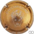Champagne capsule 7.b Or foncé et blanc