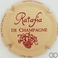 Champagne capsule 29.b Crème et marron, petites lettres sur contour