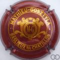 Champagne capsule 6 Bordeaux et or vif