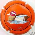 Champagne capsule 17.c PALM, orange