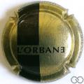 Champagne capsule 10 L'orbane, or et noir