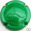 Champagne capsule 14.f Estampée, vert métallisé