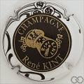 Champagne capsule 9 Noir, contour blanc, bouchon or