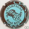 Champagne capsule 16 Bleu pâle, contour marron