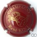 Champagne capsule 13 Bordeaux et or