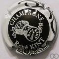 Champagne capsule 19 Noir contour et bouchon blanc