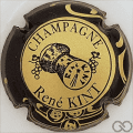 Champagne capsule 10 Or, contour noir et or