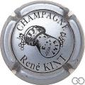 Champagne capsule 8 Gris-bleuté et noir