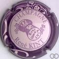 Champagne capsule 15 Rose pâle, contour violet