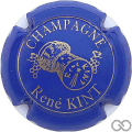 Champagne capsule 6 Bleu et or
