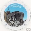 Champagne capsule 5 Contour blanc