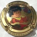 Champagne capsule A23.e Plaqué or