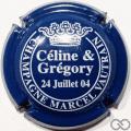 Champagne capsule H6812.b Bleu et blanc