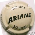 Champagne capsule 24.aa 30 ans, crème et noir