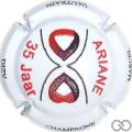 Champagne capsule 22.e Ariane 35 ans, en relief