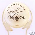Champagne capsule A4 Parure plaquée or