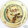 Champagne capsule 66.gb La Vavache, 2013, plaqué or
