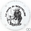 Champagne capsule 71 Bertheline, blanc et noir