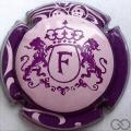 Champagne capsule 14 Rose, contour violet linseret