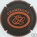 Champagne capsule 22.b Noir mat et orange