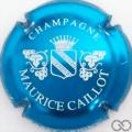 Champagne capsule 5 Bleu métallisé et blanc