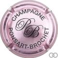 Champagne capsule 15.a Rosé-violacé et noir