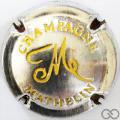 Champagne capsule 24.m Estampée métal et jaune