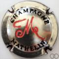 Champagne capsule 24.l Estampée métal, rouge et noir
