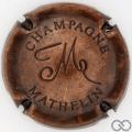 Champagne capsule 24.i Estampée bronze