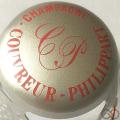 Champagne capsule  Parure, argent et rouge
