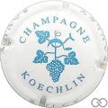 Champagne capsule 1 Blanc et bleu