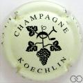 Champagne capsule 6 Crème et vert
