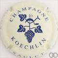 Champagne capsule 7 Crème et bleu