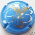 Champagne capsule 7 Bleu ciel et or