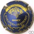 Champagne capsule 2 Bleu vif métallisé et or