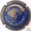 Champagne capsule 1 Bleu, or et blanc