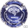 Champagne capsule 5.e Bleu métallisé et blanc