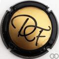 Champagne capsule 9.c Contour noir et or mat